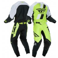 2019 Fly Racing Evolution Motocross Gear Hi Viz Yellow White