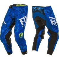 2020 Fly Racing Evolution Motocross Pants Blue White Camo