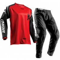 Thor Sector ZONES Motocross Gear BLACK RED