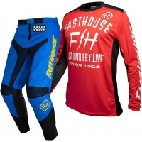 Fasthouse GRINDHOUSE Motocross Gear BLUE DICKSON RED 28 or 38 ONLY