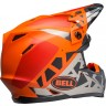 Bell Moto 9 Motocross Helmet TREMOR Matte Gloss Black Orange Chrome