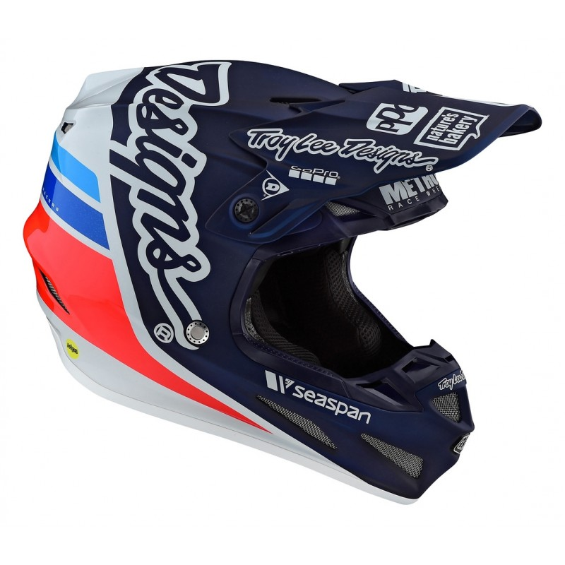 2020 Troy Lee Designs SE4 COMP SILHOUETTE Motocross Helmet TEAM NAVY