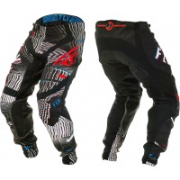 2020 Fly Racing Lite GLITCH Motocross Pants BLACK RED BLUE
