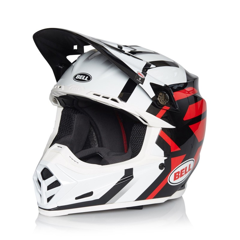 Bell Moto 9 Motocross Helmet District White Black Red XSMALL or SMALL ONLY