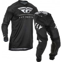 2020 Fly Racing Lite Hydrogen Motocross Gear BLACK WHITE