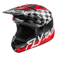 2020 Fly Racing Kinetic Sketch Youth Kids Motocross Helmet RED BLACK GREY