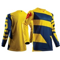 2018 Thor Pulse Level Kids Youth Motocross Jersey NAVY YELLOW
