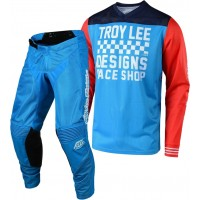 Troy Lee Designs TLD 18.1 GP AIR RACESHOP Motocross Gear Ocean Blue