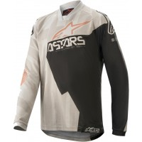 2020 Alpinestars Racer FACTORY Grey Black Rust Kids Youth Motocross Jersey