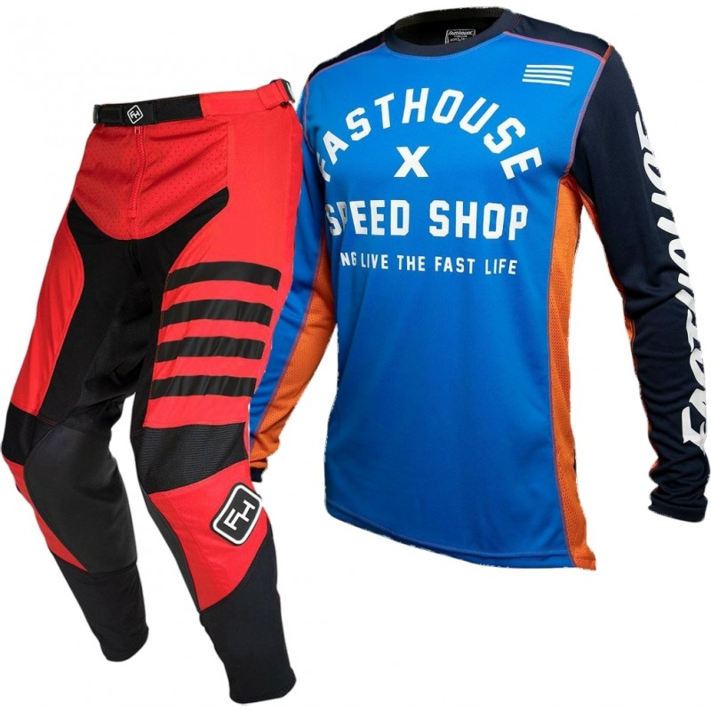 Fasthouse SPEEDSTYLE Motocross Gear RED HERITAGE BLUE