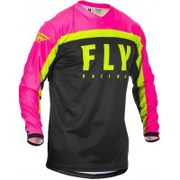 2020 Fly Racing F16 Motocross Jersey Neon Pink Black Hi Viz LARGE ONLY