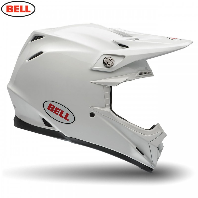 Bell Moto 9 Carbon Flex Motocross Helmet Solid White XL or XXL ONLY