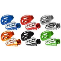 Apico Pro Bite  Anodised Wide Footpegs for Motocross Bikes