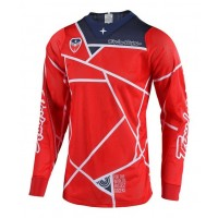 Troy Lee Designs Metric Anaheim SE AIR Red Navy Motocross Jersey XL ONLY