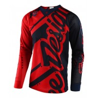 Troy Lee Designs Shadow Red Navy TLD SE Air Motocross Jersey XL ONLY