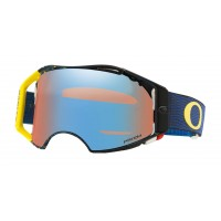 Oakley Airbrake EQUALIZER BLUE YELLOW Motocross Goggles PRIZM LENS