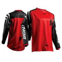 Thor Sector ZONES Motocross Jersey BLACK RED SMALL ONLY