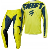 2019 Shift WHIT3 Label YORK Kids Youth Motocross Gear YELLOW NAVY