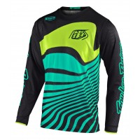 Troy Lee Designs DRIFT Youth Kids TLD GP Air Motocross Jersey BLACK TURQUOISE