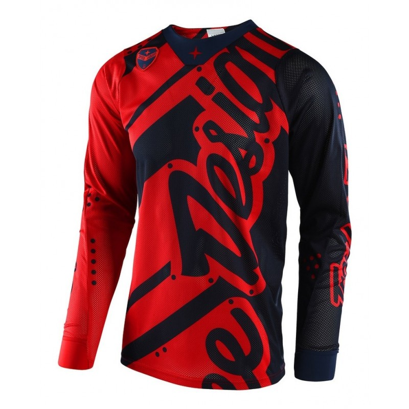 Troy Lee Designs Shadow Red Navy TLD SE Air Motocross Jersey