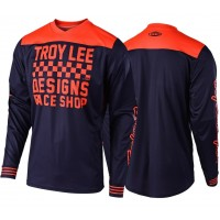 Troy Lee Designs RACESHOP TLD MX GP 18.1 Motocross Jersey Navy Orange