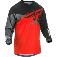 2019 Fly Racing F16 Kids Youth Motocross Jersey Red Black Grey SMALL ONLY