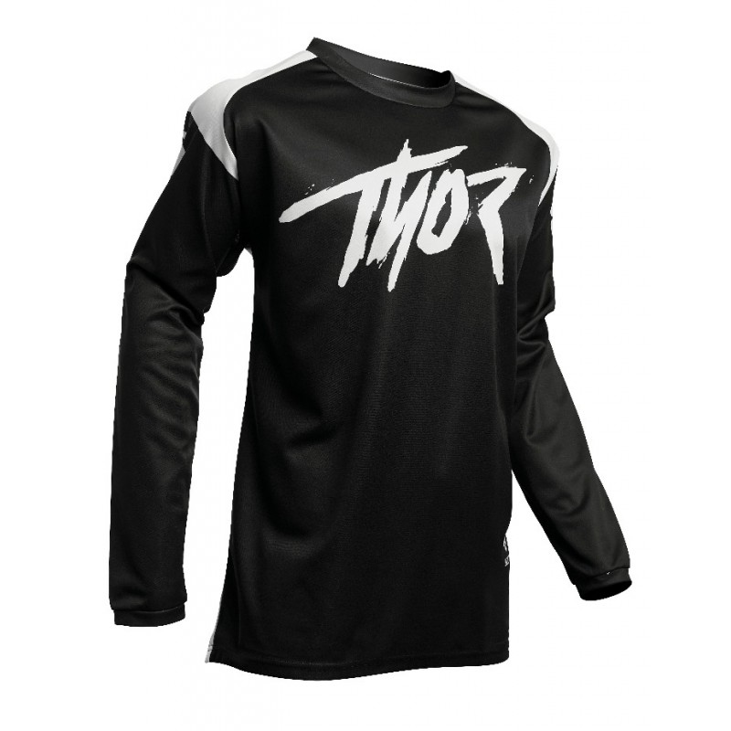 2020 Thor Sector Link Motocross Jersey BLACK WHITE