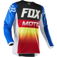 2020 Fox 180 Motocross Jersey FYCE BLUE RED