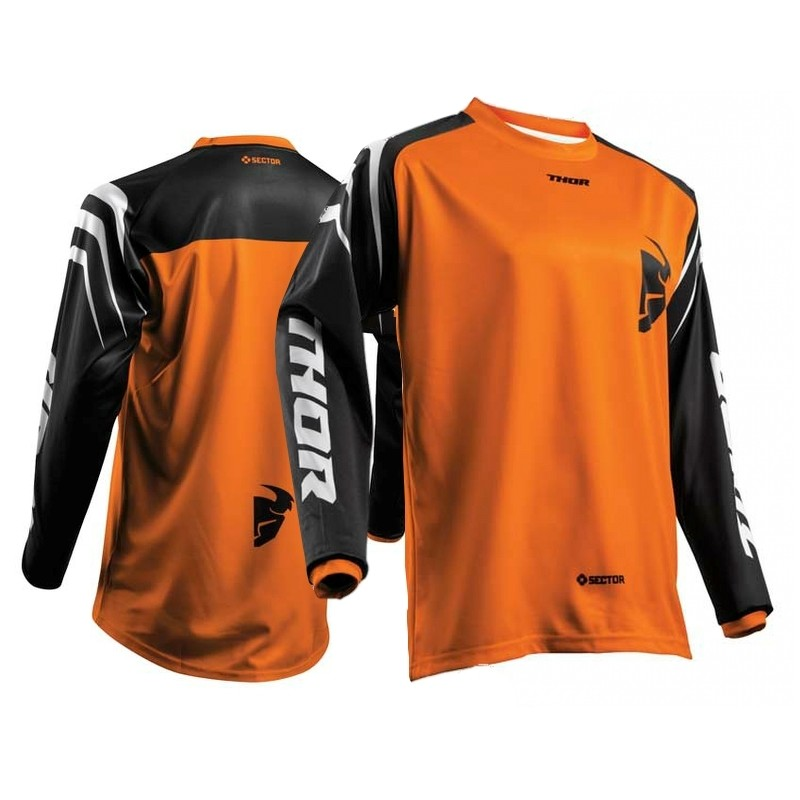 Thor Sector ZONES Motocross Jersey BLACK ORANGE SMALL ONLY
