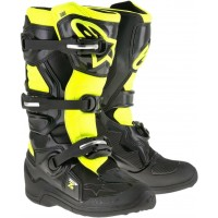 Alpinestar Tech 7S Kids Youth Motocross Boots Black Flo Yellow