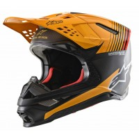 2020 Alpinestars Supertech SM-10 SM10 Dyno Motocross Helmet Black Orange