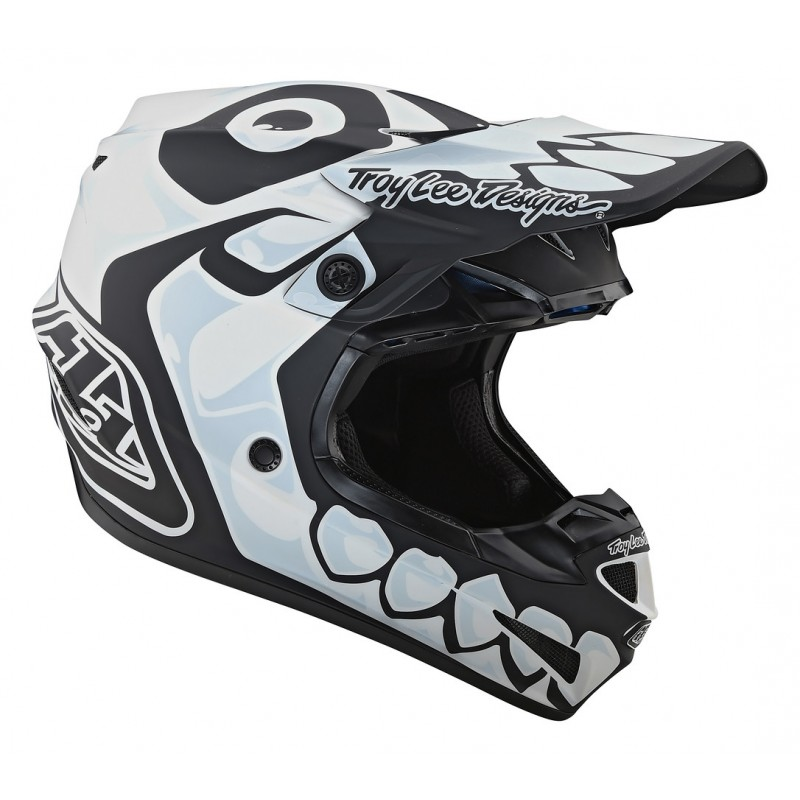 Troy Lee Design SE4 MIPS SKULLY Youth Kids Motocross Helmet