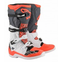 2020 Alpinestar Tech 5 Motocross Boots White Grey Flo Red