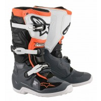 2020 Alpinestar Tech 7S Kids Youth Motocross Boots Black Grey White Orange