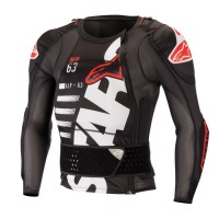 Alpinestars Sequence Body Armour Suit Long Sleeved Jacket ACU APPROVED BLACK WHITE