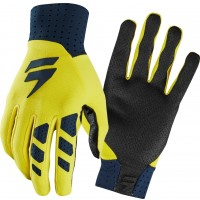 Shift MX 3LUE LABEL AIR Motocross Gloves Navy Yellow
