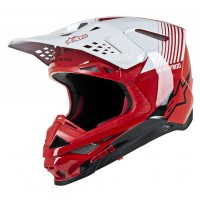 Alpinestars Supertech SM-10 SM10 DYNO Motocross Helmet Gloss Red White