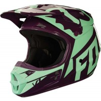 Fox V1 RACE Motocross Helmet GREEN PURPLE XL ONLY