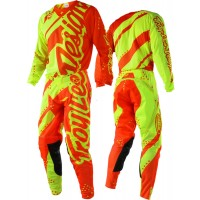 Troy Lee Designs Shadow Yellow Orange TLD SE Air Motocross Gear