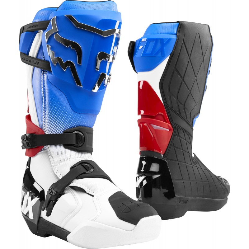 2020 Fox COMP R MX Motocross Boots Blue Red
