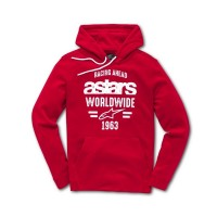 Alpinestars World Pullover Hoody Fleece Red LARGE or XL ONLY