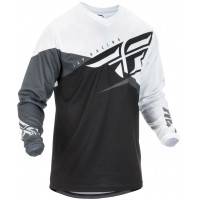 2019 Fly Racing F16 Kids Youth Motocross Jersey Black White Grey