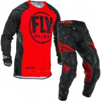 2020 Fly Racing Evolution Motocross Gear Red Black Camo