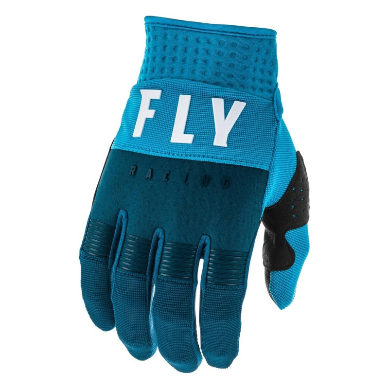 2020 Fly Racing F16 Youth Kids Motocross Gloves Navy Blue White