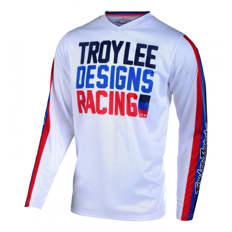 Troy Lee Designs TLD GP AIR PREMIX Motocross Jersey White SMALL ONLY