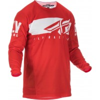 2019 Fly Racing Kinetic Shield Motocross Jersey Red White XL or XXL ONLY