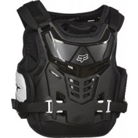 Fox Raptor Kids Youth Motocross Body Armour Black White