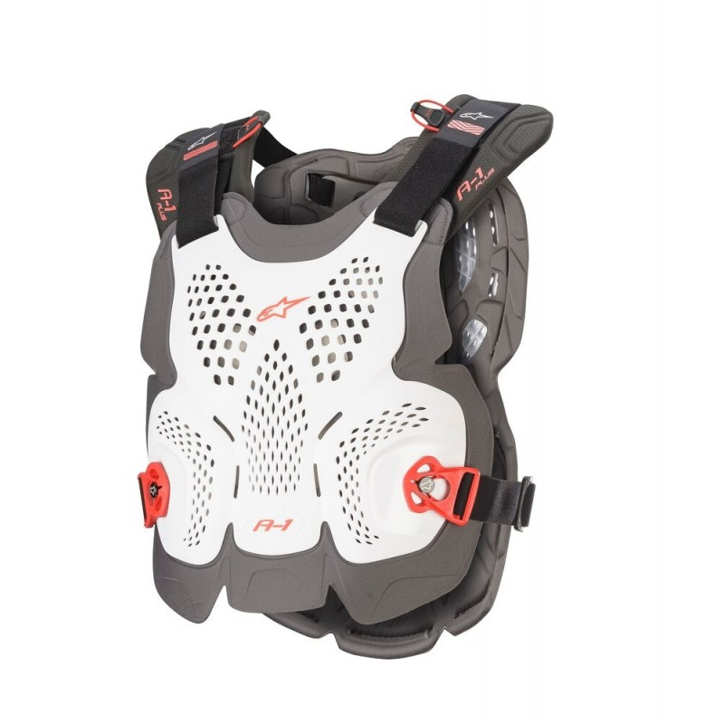 NEW Alpinestars A1 Plus Chest Roost Protector Armour For Neck Braces WHITE XL/XXL ONLY
