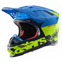 2020 Alpinestars Supertech SM-8 SM8 Radium Motocross Helmet Gloss Aqua Yellow