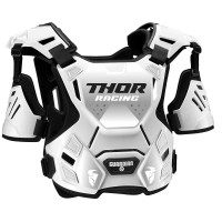 Thor Guardian Adult Motocross Chest Protector Body Armour with Arm Guards WHITE